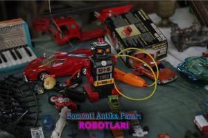bomonti bit pazarı robot siyah vintage toy